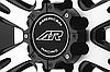 AMERICAN RACING AR708 Matte Black with Machined Face, фото 2