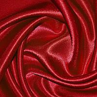Креп ткань сатин алый