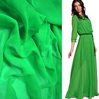 Шифон однотонный ярко-зеленый
