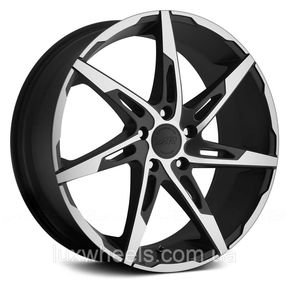 AMERICAN RACING AR900 Satin Black with Machined Face