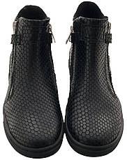 Ботинки Minimen 55KROKOD р. 31, 32, 33 Черный, фото 3