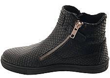 Ботинки Minimen 55KROKOD р. 31, 32, 33 Черный, фото 2