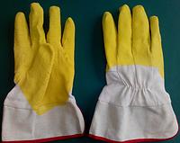 "Перчатки  ""СТЕКОЛЬЩИК желтый""  твердый манжет,Размер: 10.5, PRC /05-21"