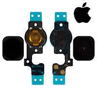 Шлейф (Flat cable) iPhone 5 кнопки меню и чёрной пластиковой накладкой