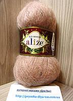 Мохеровая пряжа (62%- кид мохер, 38%- полиамид, 50 г/ 500 м) Alize Kid Royal 190