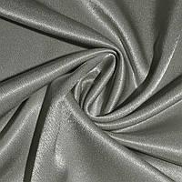 Креп ткань сатин серый