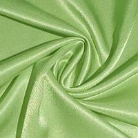 Креп ткань сатин салатовый