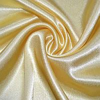 Креп ткань сатин желтый