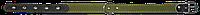Ошейник двойной 25мм*450мм с кожаными вставками