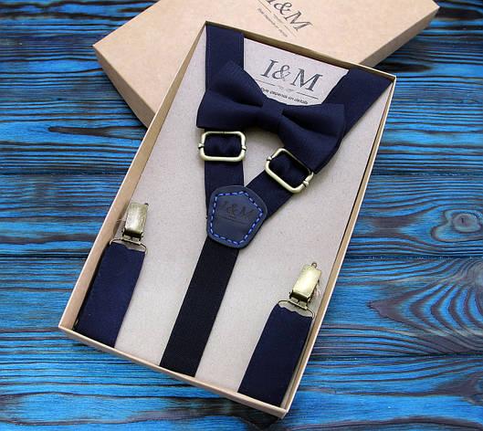 Набор I&M Craft галстук-бабочка и подтяжки для брюк (030233), фото 2