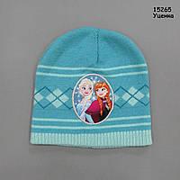 """Шапка """"Ельза і Анна"""" Frozen для дівчинки. 46-50 см"""