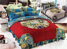 Качественное постельное евро-белье красивых разцветок