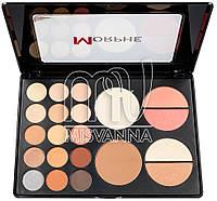 Палитра цветных теней для макияжа с румянами MORPHE 05Р21