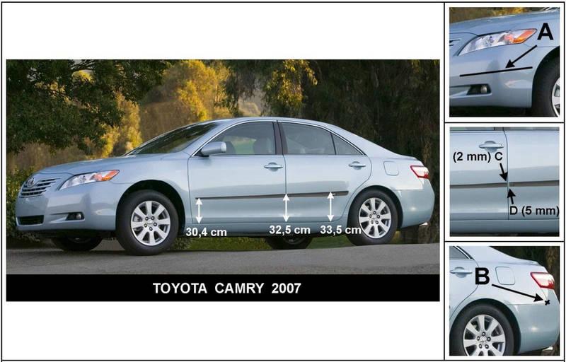 F-16/15 Door moldings Toyota Camry 2006-2011