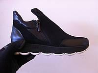 Ботинки женские кожа замша код 711