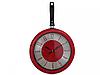 Часы - сковорода кухонные, Red