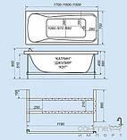 Гидромассажная ванна Triton Кэт, 1500х700х560 мм, фото 2