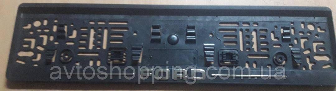 Рамка под номер с металлической надписью Форд (Ford),  Рамка Черная