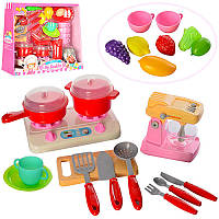 Детский Игровой набор кухонной бытовой техники, плита, посуда, продукты, 2 вида, Z58006-Z58006-2