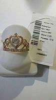 Золотое кольцо размер 17.5