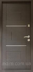 Двери входные Куб ТМ Riccardi венге/дуб беленый