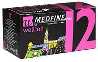 Универсальные иглы Wellion MEDFINE plus для инсулиновых шприц-ручек 12мм (29G x 0,33мм)
