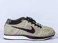 Мужские беговые кроссовки Nike Flyknit Racer Multicolor, Ткань Flyknit