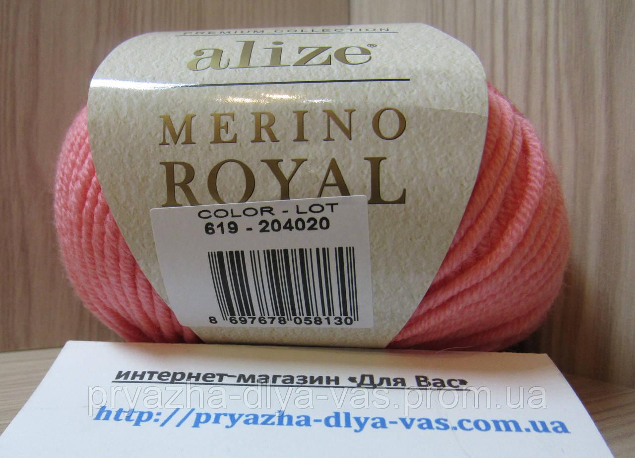 100% мериносовая шерсть (50 г/100 м) Alize Merino Royal 619