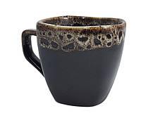 """Чашка кофейная квадратная 200 мл """"Франция"""" пена черная ."""