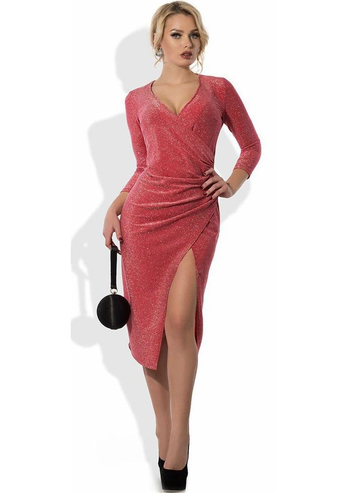 072146e92f9d6fa Эффектное Платье Из Люрекса с Эффектом Запаха — в Категории