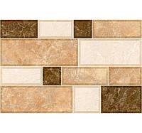 Фасадная керамическая плитка Cersanit Грани светло-коричневая 23х35 см цена за 1 плитку