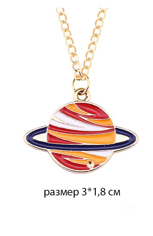 размеры кулона сатурн оранжевый