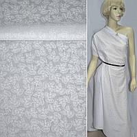 Батист хлопковая ткань деворе ткань белый колокольчик ш.140