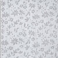Батист хлопковая ткань белый деворе ткань в цветы ш.150