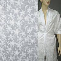 Батист хлопковая ткань деворе ткань молочный с мелкими цветами ш.140