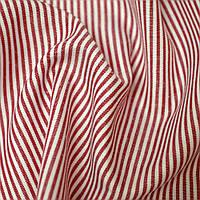 Ткань рубашечная в полоску хлопок хлопковая натуральная