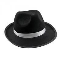 Шляпа Мужская фетровая черная