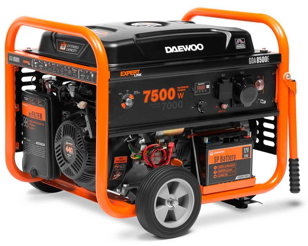 Генератор бензиновий Daewoo GDA 8500E (7,5 кВт)
