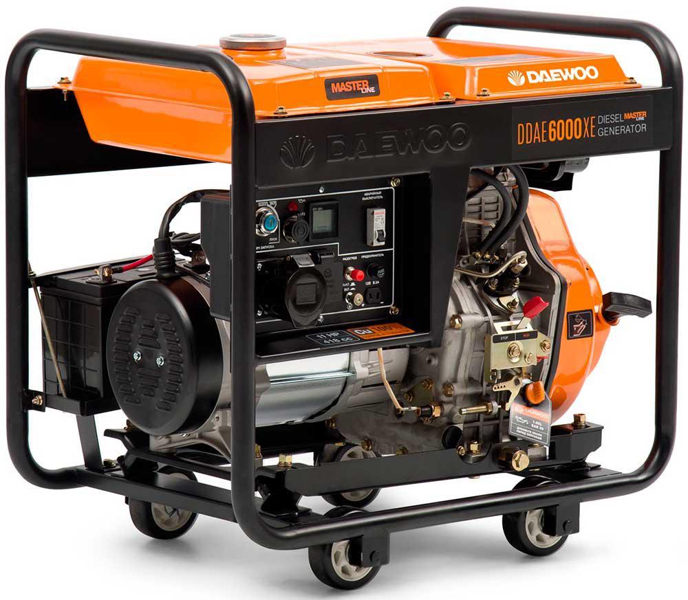 Генератор дизельний Daewoo DDAE 6000XE (5,5 кВт)