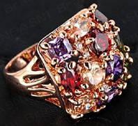 """Кольцо """"Многоцветный кристалл"""""""