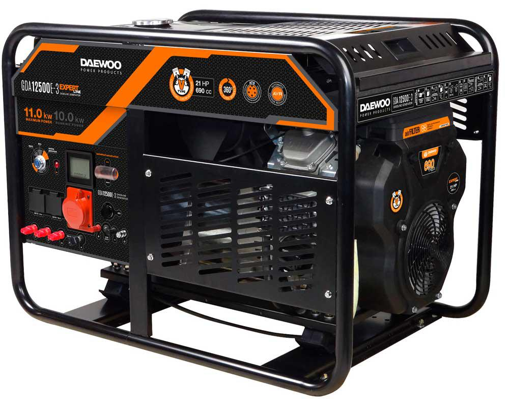 Генератор бензиновий Daewoo GDA 12500E-3 (11кВт)