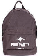 Городской рюкзак 17 л. Poolparty backpack-kangaroo-grey