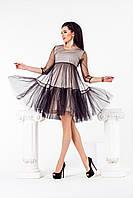 Платье женское с евро-сеткой по 54 размер  нат-ан1063, фото 1