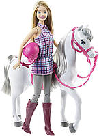 Барби прогулка верхом Barbie Doll & Horse DHB68
