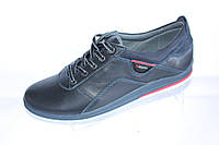 Мужские туфли спорт, кожа, М30, синие
