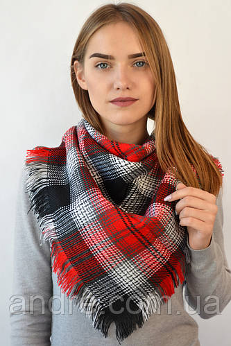 Платок Меланж, бордовый 80 см