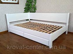 """Біла полуторне ліжко з масиву дерева від виробника """"Шанталь"""", фото 3"""