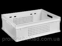 Ящик пластиковый 600*400*200  белый перфорированный Е2