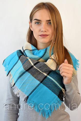 Платок Меланж, голубой 80 см