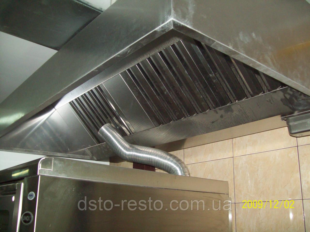 Зонт вытяжной для кафе пристенный 1200/800/400 мм